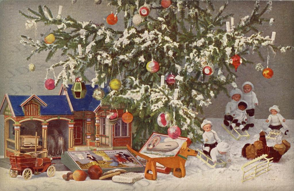 старинные открытки к новому году фото москве