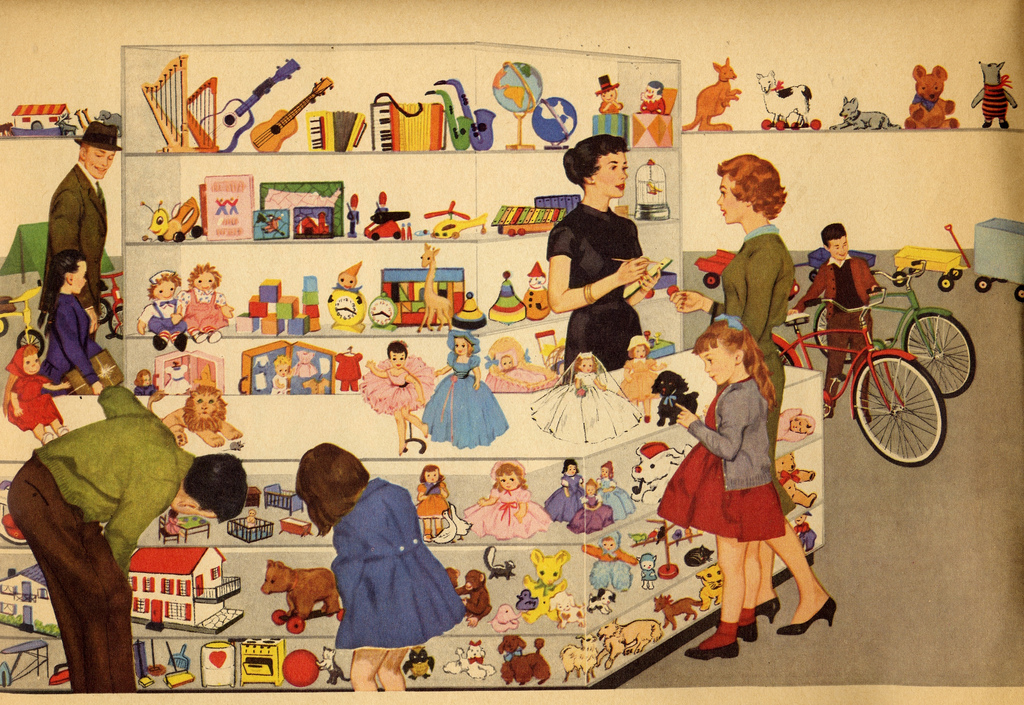сюжетная картинка магазин игрушек